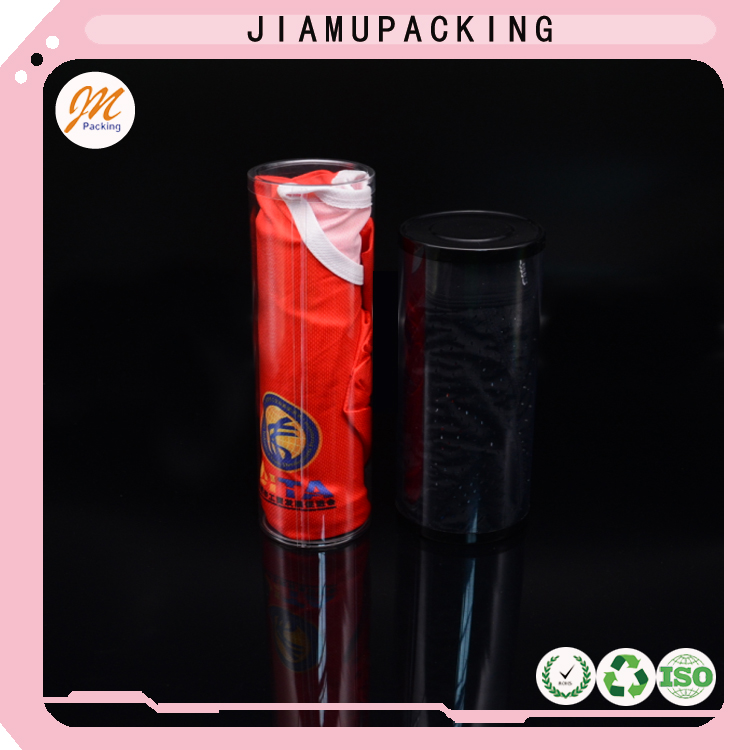 Wholesale disposable plastic clear T-shirt packaging tube