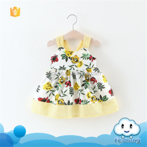 SD-1203G baby cotton frocks designs floral patterns new design kids baby girls dress