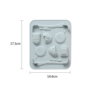 Mutishaped Silicone Gun Shaped Cake Pan Mold For Cookie Chocolate