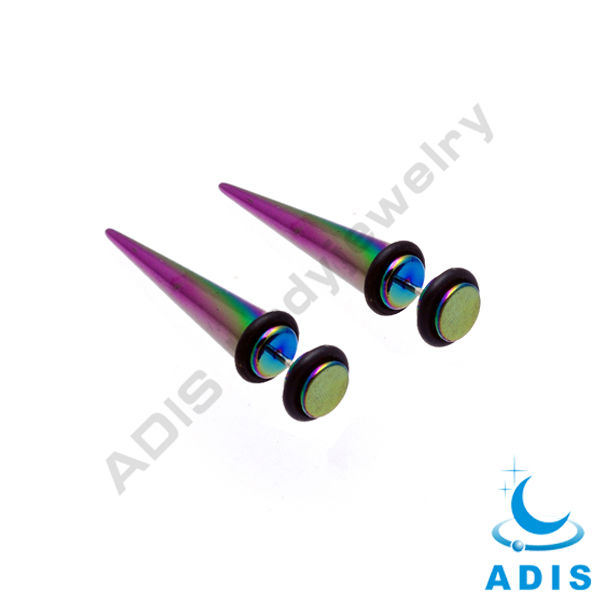 anodized ear plugs cheater plugs tapers piercings with O rings