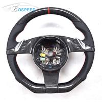 For Porsche Black Carbon Fiber Car Steering Wheel
