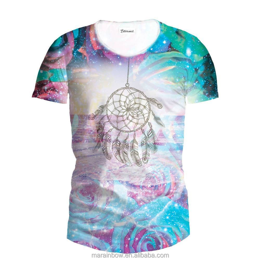 2014 latest fashion new designer dye sublimation all over for All over dye sublimation t shirt printing