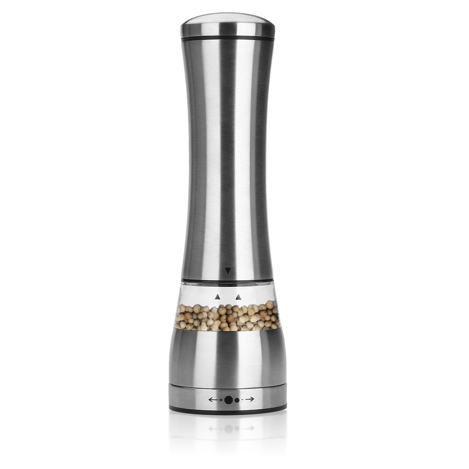 Pepper Mill, Danibos Adjustable Manual Stainless Steel Salt and Pepper Grinder