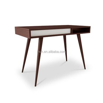 Scandinavian Office Desk Furniture Wood Writing Table Brown Design