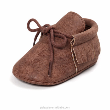 2017 new brown italian leather baby shoes baby moccasins soft baby booties 1cfab7394541