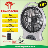 rechargeable emergency function12 inch box fan with light