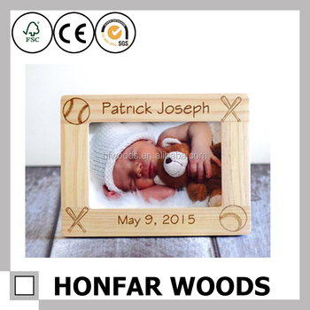 Baby Love Fsc Wood Laser Cut Baby Photo Frame For Family Gift - Buy ...