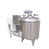 Condensed And Heating Tank 500 Liter Pasteurization Complete Milk Cooling Processing Equipment
