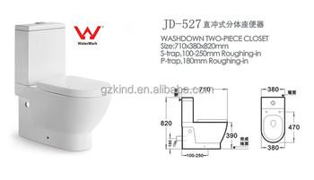 Marca d 39 gua de gua para lavagem de dupla descarga duas for Marcas de wc