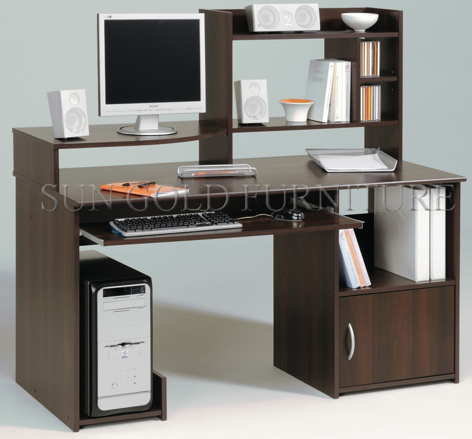 pictures of wooden computer table models with prices (SZ-CDT10), View  pictures of wooden computer table, SUN GOLD Product Details from Foshan Sun