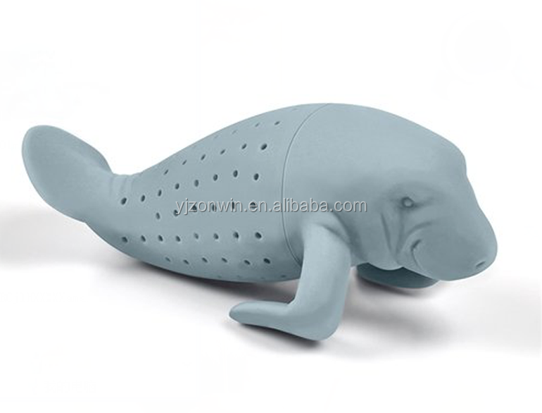 Item K3-017 Silicone sea cow tea infuser / tea strainer