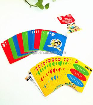 オリジナルカードゲーム家族トランプ印刷ファミリーファンゲーム Buy