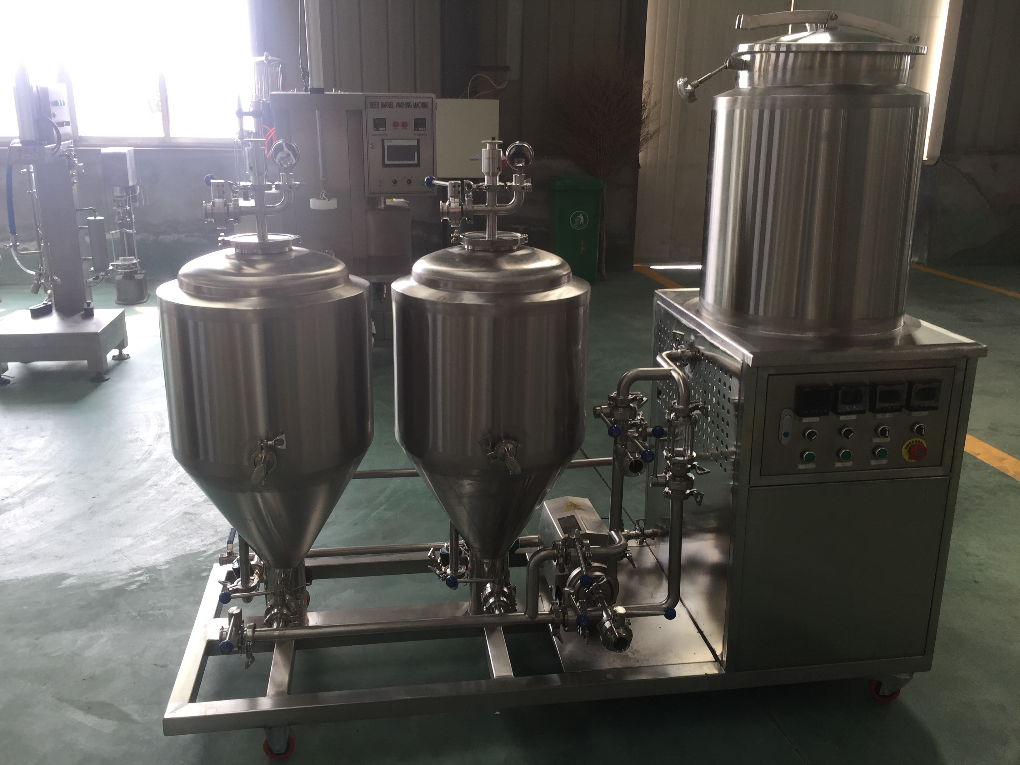Mini home beer brewery equipment 50l beer brewing system automatic