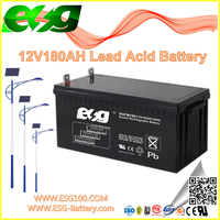 12V180ah New products Manufacture UPS high rate AGM SLA MF VRLA Solar Lead Acid Battery Activator