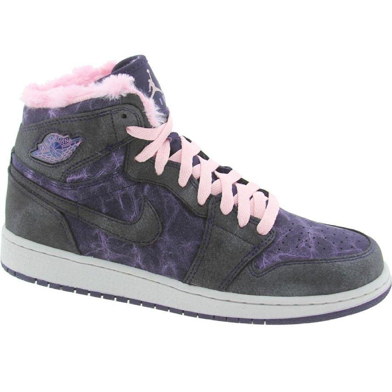 100% authentic 2df53 306ac Get Quotations · Nike Girls AJ 1 Retro Hi PRM GS Imperial Purple 535804-509