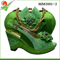 MM1001-2 Size 38-43 African matching shoes and bags italian in women's pumps