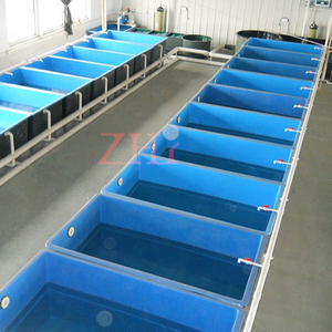 FRP fish tank for indoor fish farm, fiberglass fish tanks