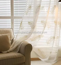 feather design sable embroidery sheer curtain photo booth curtains