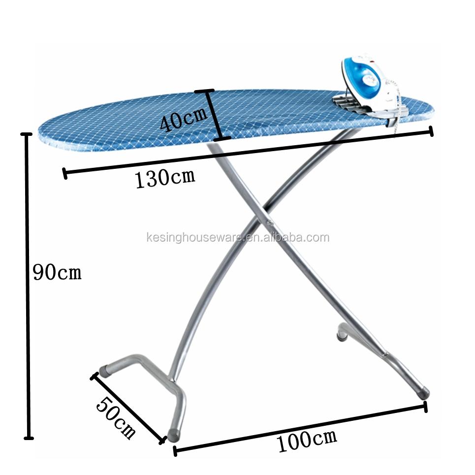 New Design Folding Stand Iron Mesh Top Steel European Ironing Board
