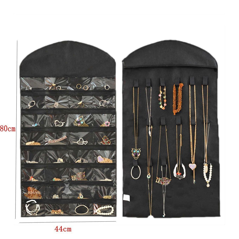 Beau Sturdy Closet Oxford Hanging Jewelry Organizer Pockets Storage W/ Zipper  Hanger