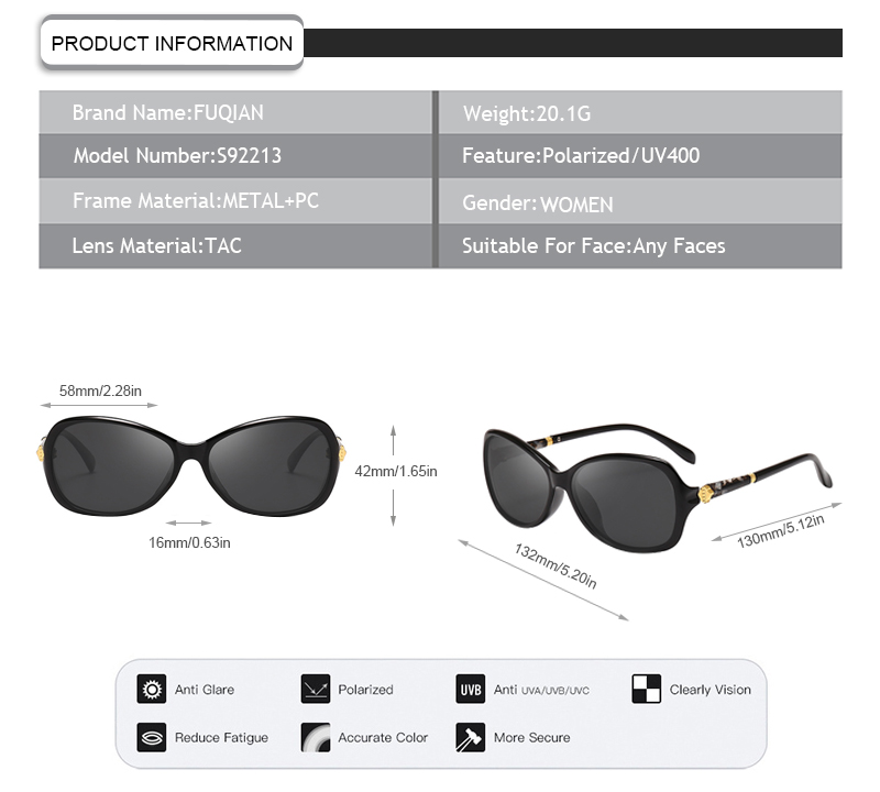 Fuqian Latest polarized driving glasses factory for lady-7