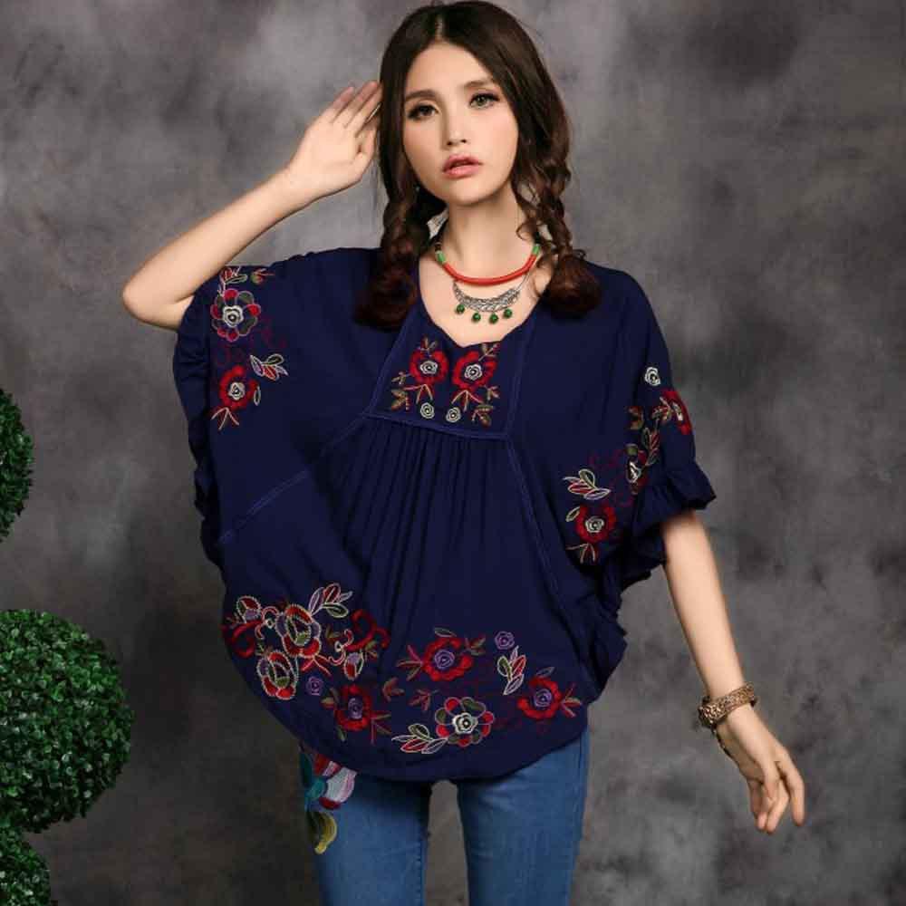blusas campesinas mexicanas bordadas al por mayor de alta