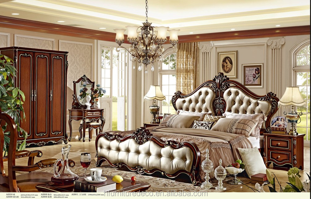 luxury uniqe furniture American european style bedroom set
