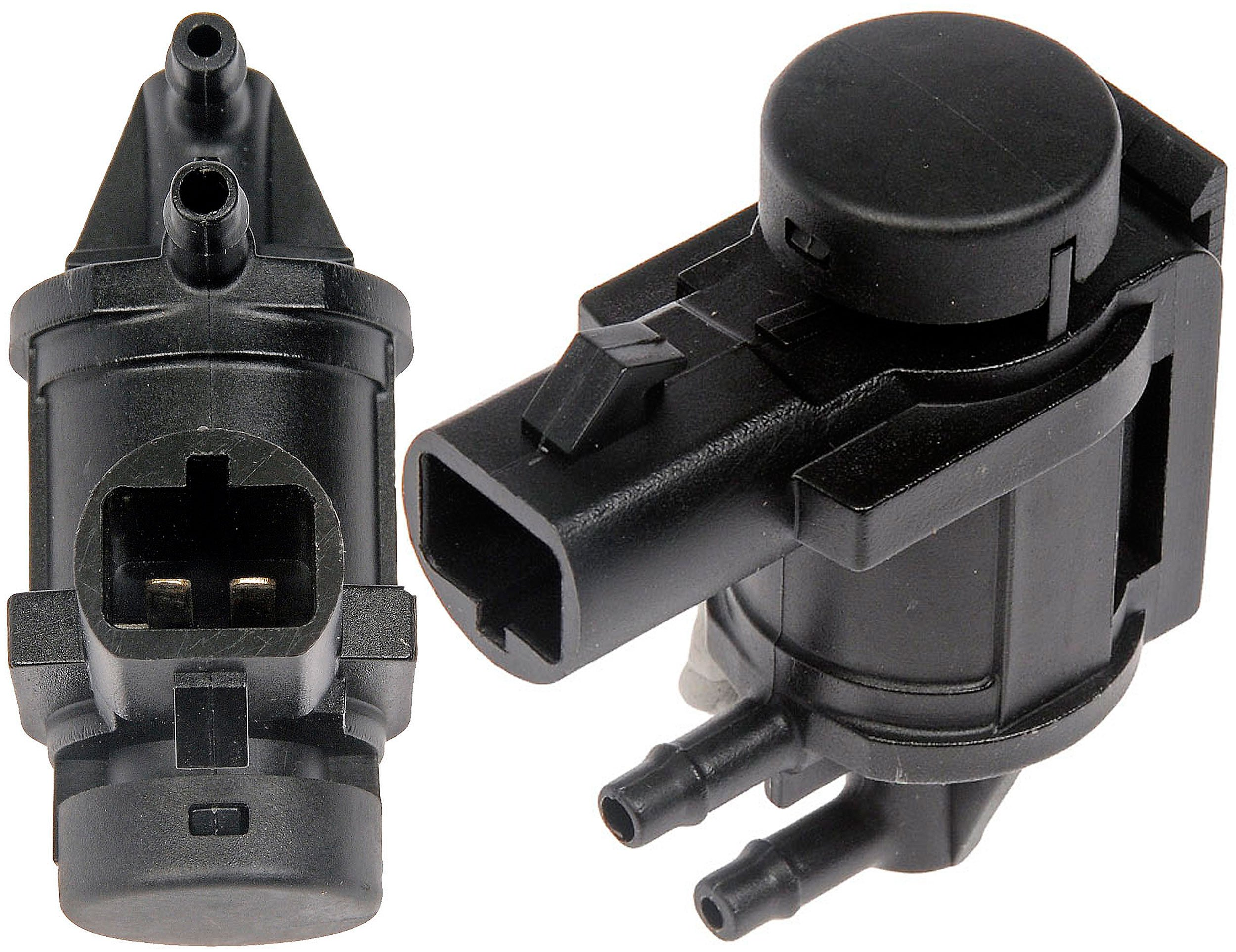 APDTY 022267 Vacuum Solenoid EGR Exhaust Gas Recirculation & Evaporation Pressure Regulator (Replaces Only Models w/ Wiring Harness Plug Node At 6'Oclock Position; Match Image) (Replaces 6L3Z-9H465-B)