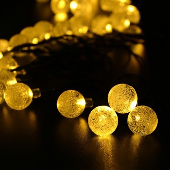 Smart Solar Led String Lights Fairy Outdoor Garden Party Crystal Ball Colorful Christmas Light 2