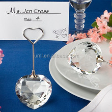 Crystal Collection Heart Design Place Card Holders best wedding gift