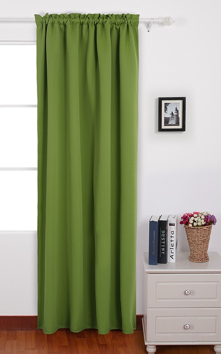Captivating Get Quotations · Deconovo Solid Color Blackout Curtain Panels Rod Pocket  Curtains Thermal Insulated Window Coverings Shade Curtains For