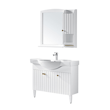 White Classic Bathroom Cabinet Vanities With Legs L Shaped Bathroom