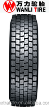 good self-cleaning,WANLI brand truck tire,steer and drive position, SDR03, 11.00R20,12.00R20,11R22.5,315/80R22.5