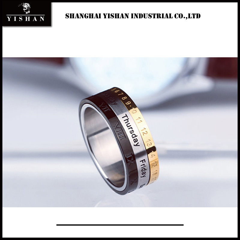 Attractive fashion number and Date rotation little finger ring