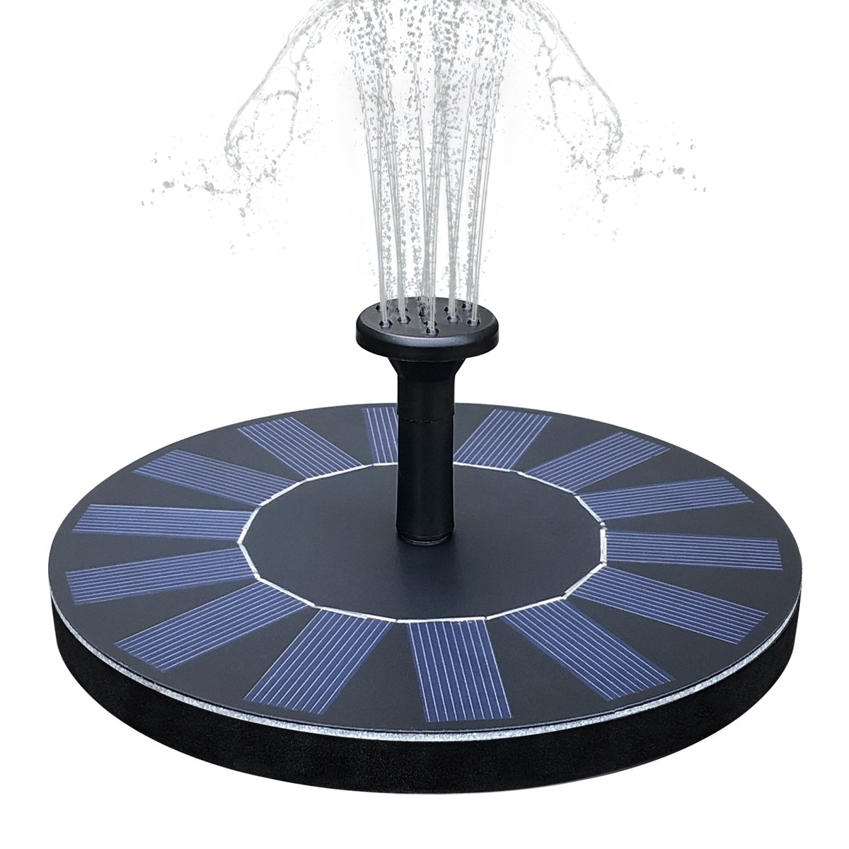 Feelle Solar Powered Bird Bath Fountain Pump 1.4W Solar Panel Fountain Kit, Outdoor Floating Submersible Water Fountain Pump for Pond, Pool, Garden, Fish Tank, Aquarium