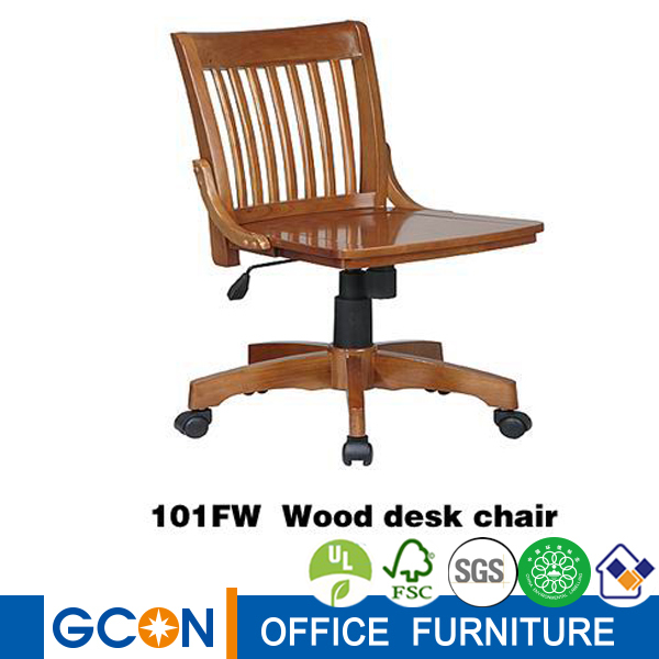 Sin brazos cl sica de alta la luz giratoria de madera for Silla escritorio alta