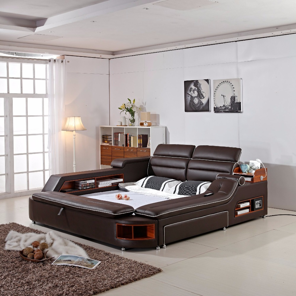 US $1450.0 |Muebles De Dormitorio 2018 Limited New Arrival Modern Bedroom  Set Moveis Para Quarto Furniture Massage Soft Bed With Safe-in Bedroom Sets  ...