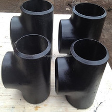 4 black steel pipe fittings reducer tee elbow cap