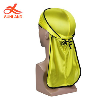 F4536 new 2019 summer spring long tail turban for men wholesale silk pirate hat elastic bandannas