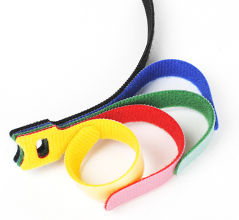 Custom Nylon Elastic Magic Tape For bracelet Hook And Loop Cable Tie