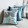 Best selling 2015 design ocean plant digital print vintage outdoor cushion cover wholesale