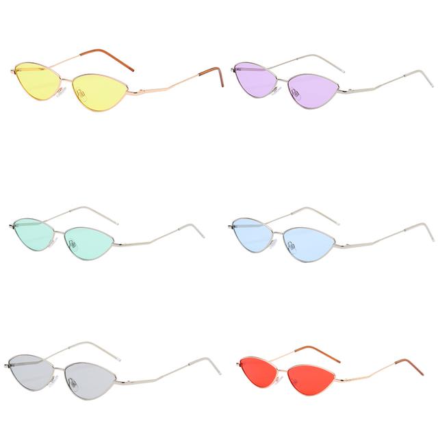 221fed1251 Lindo Sexy ojo de gato gafas de sol de las mujeres 2018 Retro negro rojo  rosa