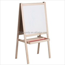 Kids Non-toxic Double Side Foldable Erasable Wooden Easel
