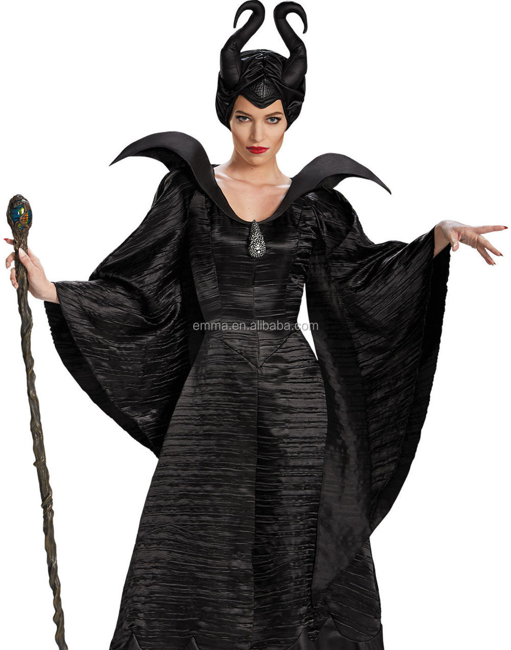 Adult Maleficent Costume Evil Witch Wicked Fancy Dress Costume Bwg ...