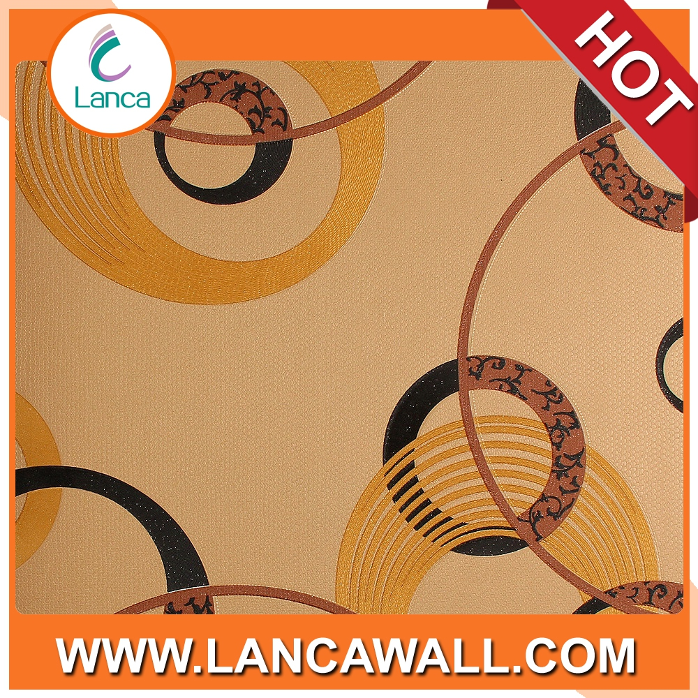 Circle Pattern Interior Decoration PVC Waterproof Modern 3d Wallpaper