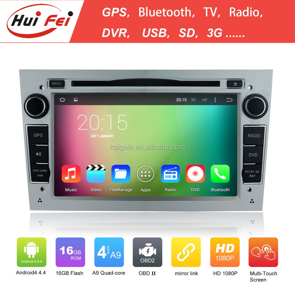 big promotion!!!huifei 2 din car gps for opel vectra with android 4.4 OS dual core feilink