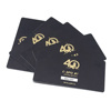 Custom PVC Card Different Barcodes Foiling Gold PVC Business Cards