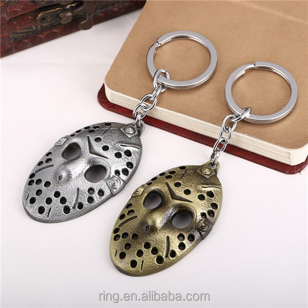 New Arrival Friday the 13th Keychain 2 Colors Jason Hockey Personal Mask Keyring Cosplay Black Friday Fashion Keychain