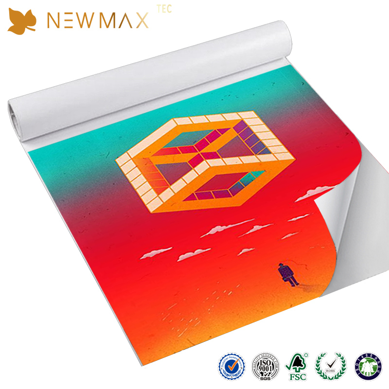 NEWMAX hotsale thick reusableremovable sticker vinyl roll wholesale pvc vinyl sticker paper roll