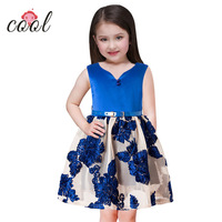 2018 hot sale casual sleeveless korean girl lace frock design dress